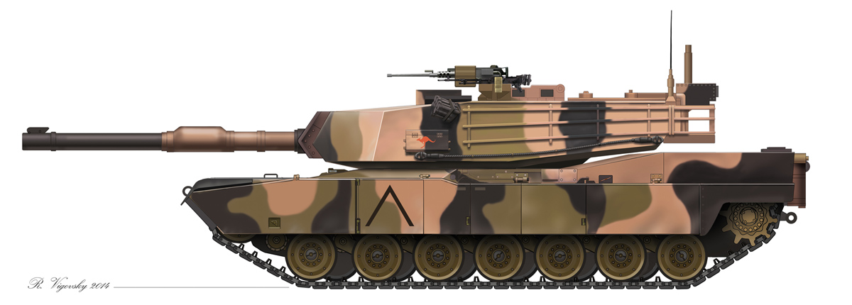 Abrams M1A1. 2015. Computer graphics.